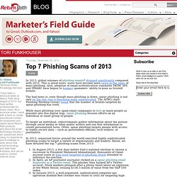 Top 7 Phishing Scams of 2013
