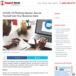 COVID-19 Phishing Attacks: Secure Yourself and Your Business Data - Support Nerds Technology Blog