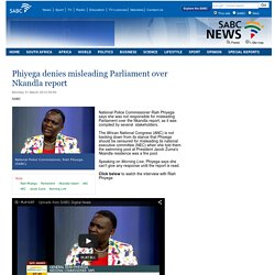 Phiyega denies misleading Parliament over Nkandla report:Monday 31 March 2014