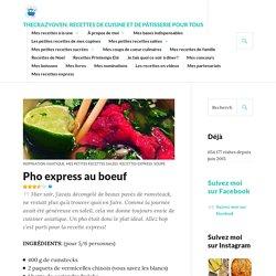 Pho express au boeuf