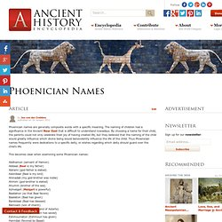 Phoenician Names