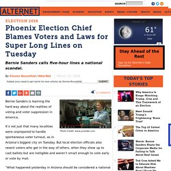 Phoenix Election Chief Blames Voters and Laws for Super Long Lines on Tuesday