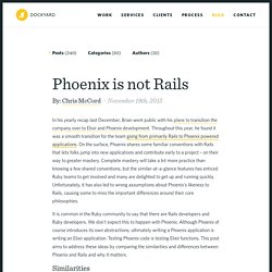 Phoenix is not Rails