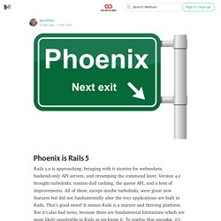 Phoenix is Rails 5 — Infinite Red