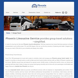 Phoenix Group Travel Services - Gain piece of mind, comfort & reliability