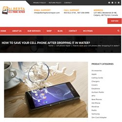 How to Save Your Cell Phone After Dropping It in Water?