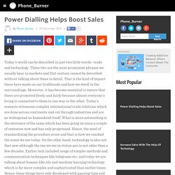 Power Dialling Helps Boost Sales