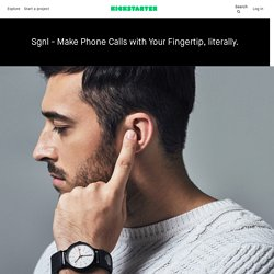 Sgnl - Make Phone Calls with Your Fingertip by Innomdle Lab
