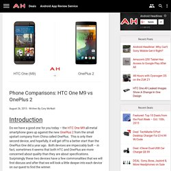 Phone Comparisons: HTC One M9 vs OnePlus 2