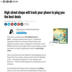 You phone will connect you to the best high street deals in 2016