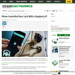 Phone-Controlled Door Lock With a Raspberry Pi