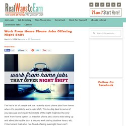 Work From Home Phone Jobs Offering Night Shift