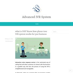 what is IVR? Know How phone tree IVR system works for you business – Advanced IVR System