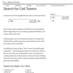 Cell Phone Tower Search - Cell Phone Servi
