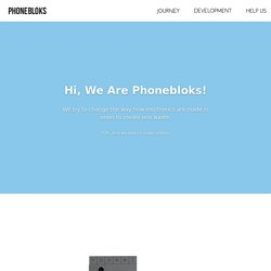 Phonebloks - The Plan