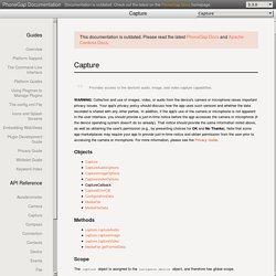 PhoneGap API Documentation