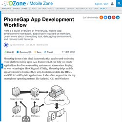PhoneGap App Development Workflow