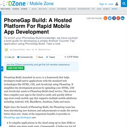 PhoneGap Build: A Hosted Platform For Rapid Mobile App Development