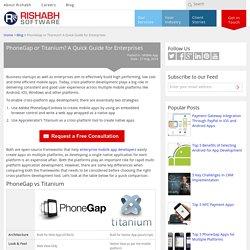 PhoneGap Vs Titanium: A Guide for Enterprises