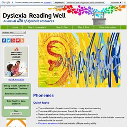 Phonemes and their Role in Dyslexia