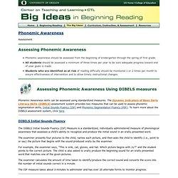 Phonemic Awareness: Assessment