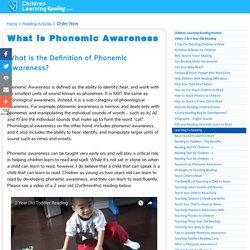 What is Phonemic Awareness - Definition of Phonemic Awareness