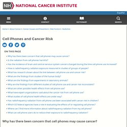 Cell Phones and Cancer Risk Fact Sheet - National Cancer Institute