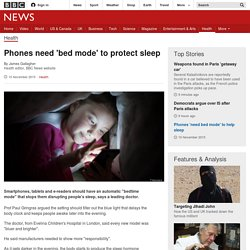 Phones need 'bed mode' to protect sleep
