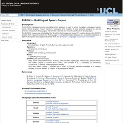 UCL Speech, Hearing & Phonetic Sciences - Internet Shopping
