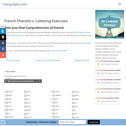 French Phonetics: Listening Exercises