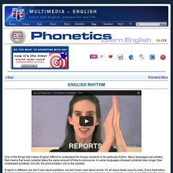 Phonetics: Beats and Rhythm –[Multimedia-English]