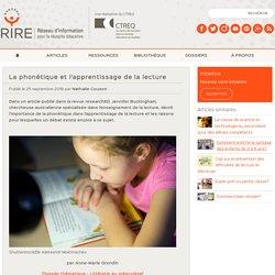 La phonétique et l'apprentissage de la lecture