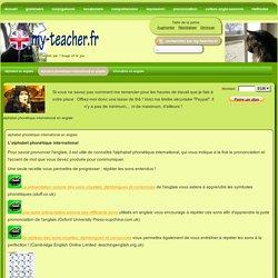 alphabet phonétique international en anglais