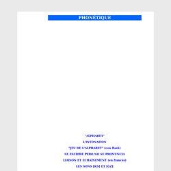 phonétique et prononciation
