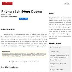 Phong cách Đông Dương - C&G Architects