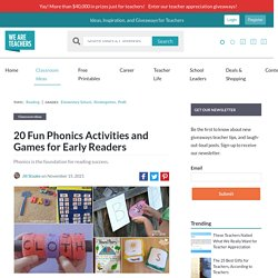 20 Fun Phonics Activities and Games For Early Readers - We Are Teachers