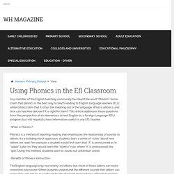Using Phonics in the Efl Classroom – WH Magazine