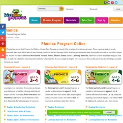 Phonics Program for Preschool, Kindergarten, 1st and 2nd Grade