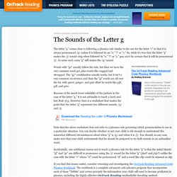 Phonics Rules - The Sounds of the Letter g (Free Worksheet)
