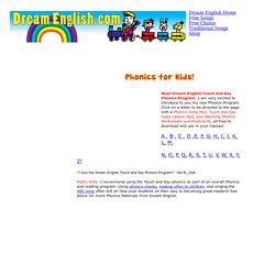 Phonics for Kids: Free Worksheets, Songs, Videos, and Audio Lessons
