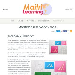 Phonograms Made Easy – Maitri Learning