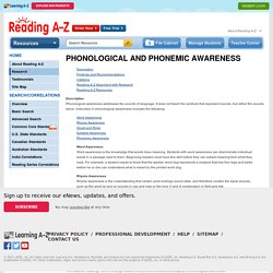 Research and Readinga-z.com - Phonological and Phonemic Awareness