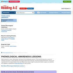 Phonological Awareness Lessons