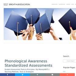 Phonological Awareness Standardized Assessments