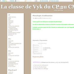 Phonologie /Combinatoire - La classe de Vyk du CP au CM2