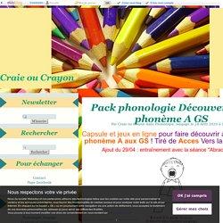 Pack phonologie Découverte du phonème A GS - Craie ou Crayon