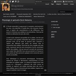 Phonologie et gestuelle Borel-Maisonny - Blog'Atine
