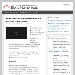 Phonosti.co une plateforme dédiée aux musiques libres #brève
