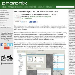 The Gambas Project: It's Like Visual Basic On Linux