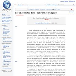Les Phosphates dans l'agriculture française - Wikisource